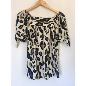 INC International Concept Animal Print Blouse